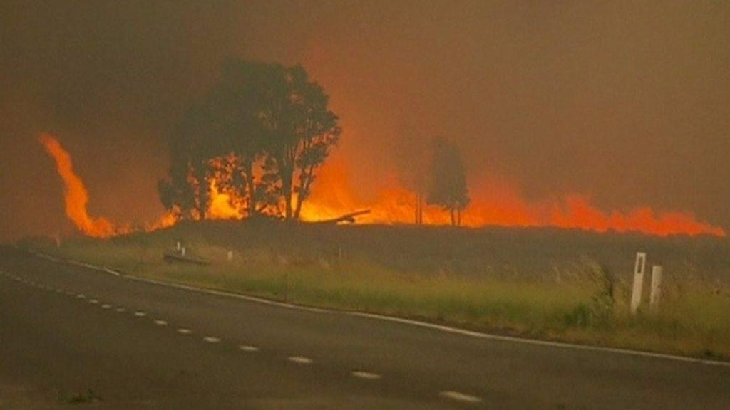 nearly 100 bushfires raging in australia u0026 39 s new south wales state