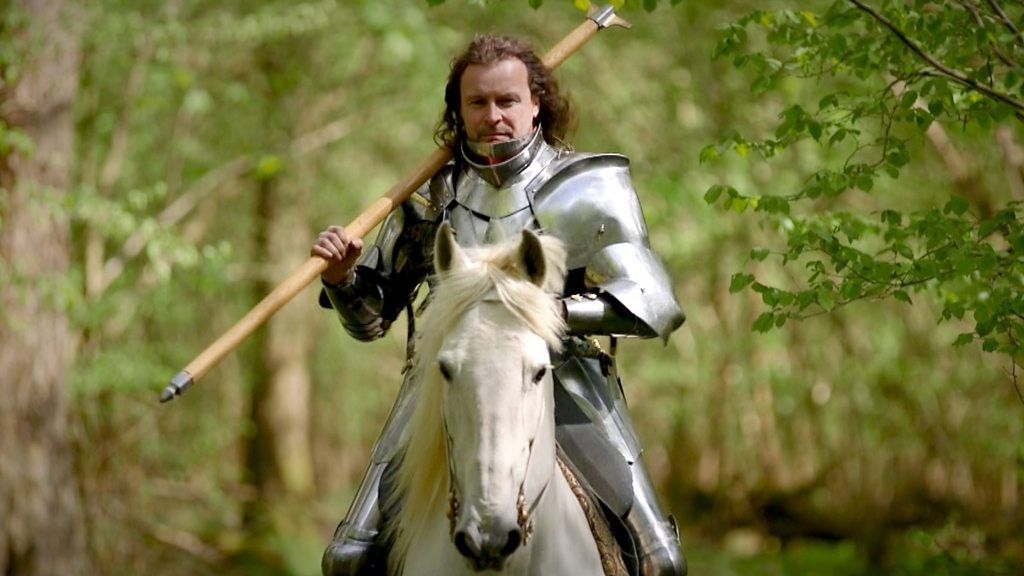 e0265292c1b The boss who lives as a medieval knight - BBC News