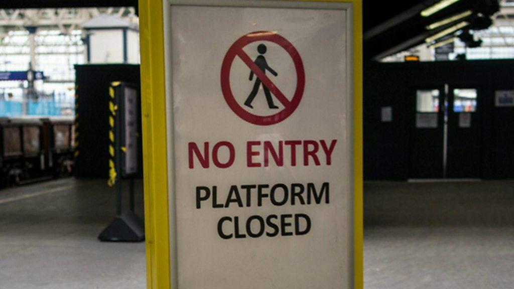 Engineering work at Waterloo station