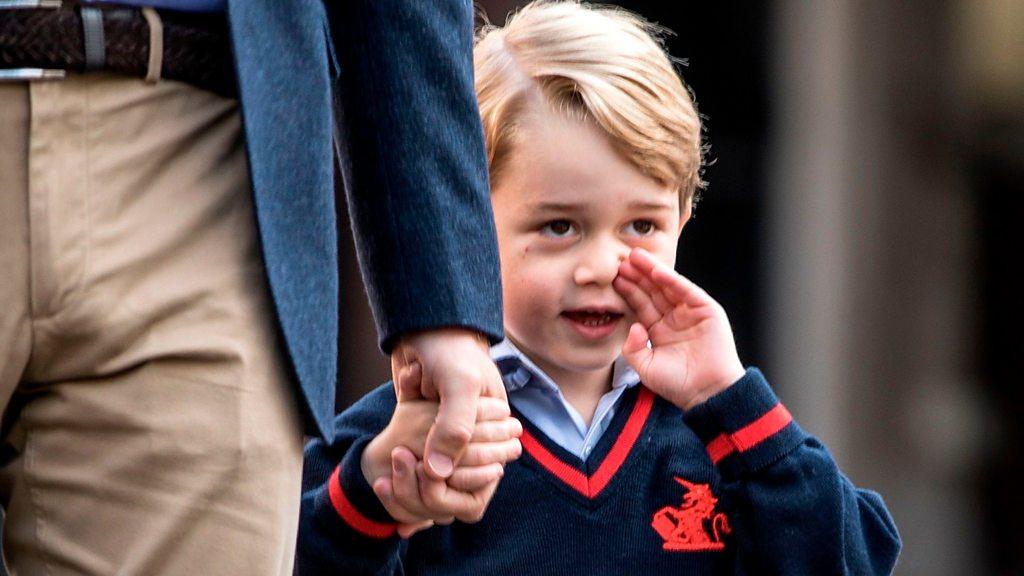 Кейт не смогла проводить в школу принца Джорджа из-за токсикоза - BBC Русская служба