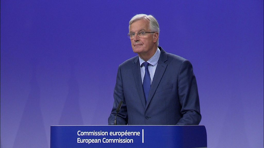 Deadlock over UK's Brexit bill, says EU's Michel Barnier