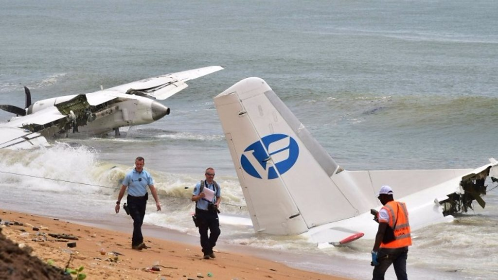 Ivory Coast crash: Four die when cargo plane plunges into sea