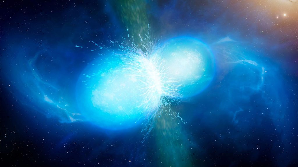 Einstein's waves detected in star smash