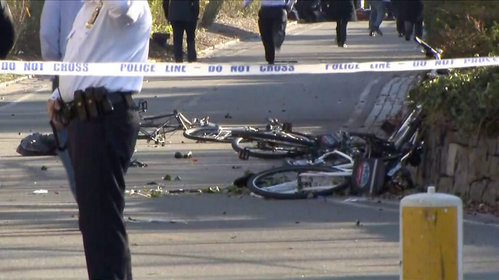 New York truck attacker kills eight