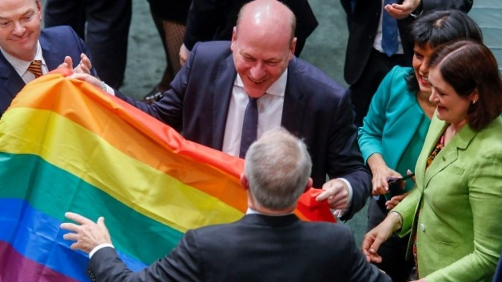 Australian parliament approves same-sex marriage - BBC News