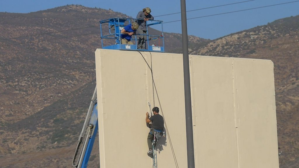 Trump wall: President denies changing view on Mexico border plan