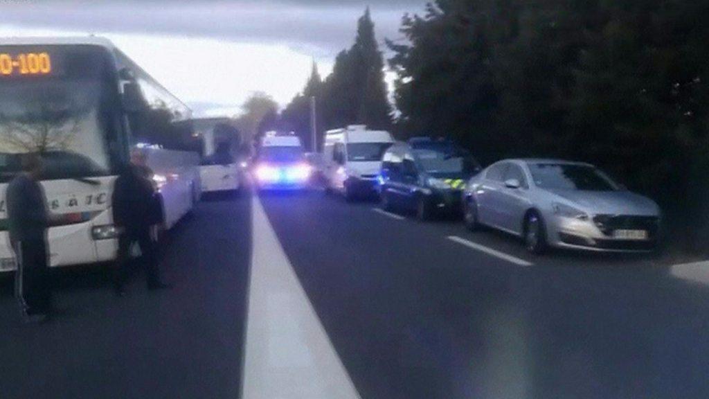 Children die in French train collision