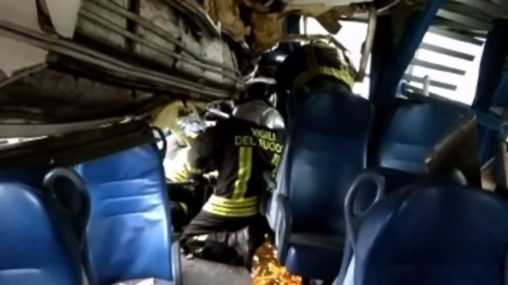 The crash scene near Milan