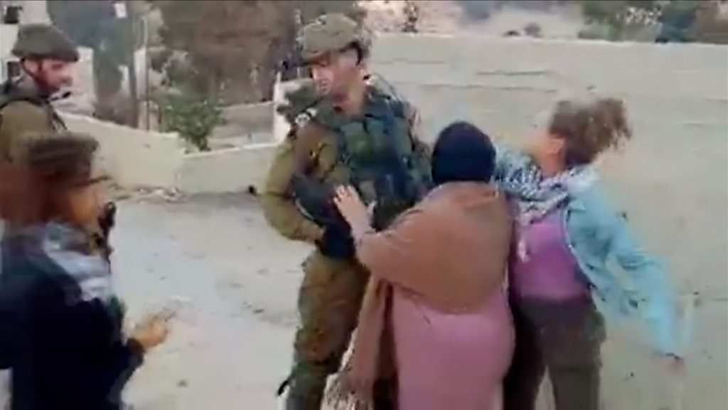 Palestinian slap video teen goes on trial