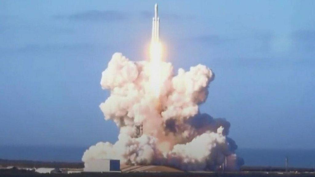 Elon Musk's Falcon rocket soars to space