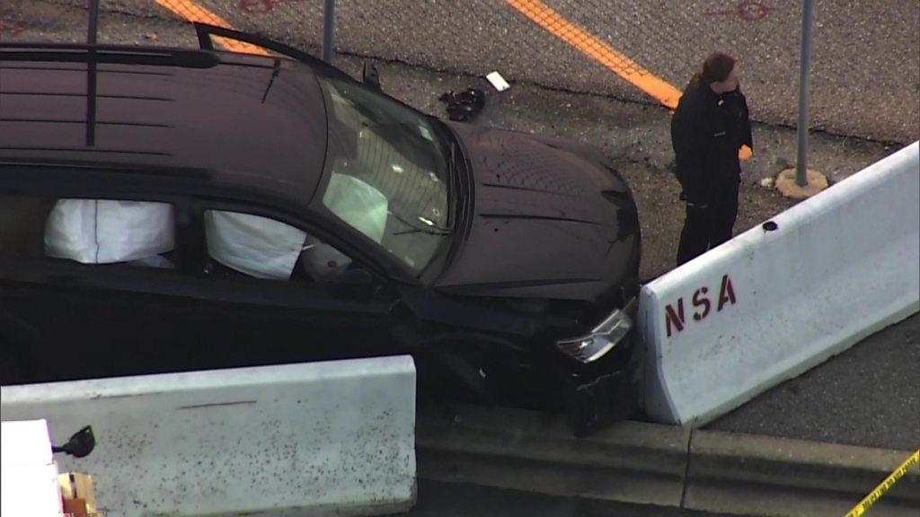 NSA shooting: Several injured as vehicle crashes at gate