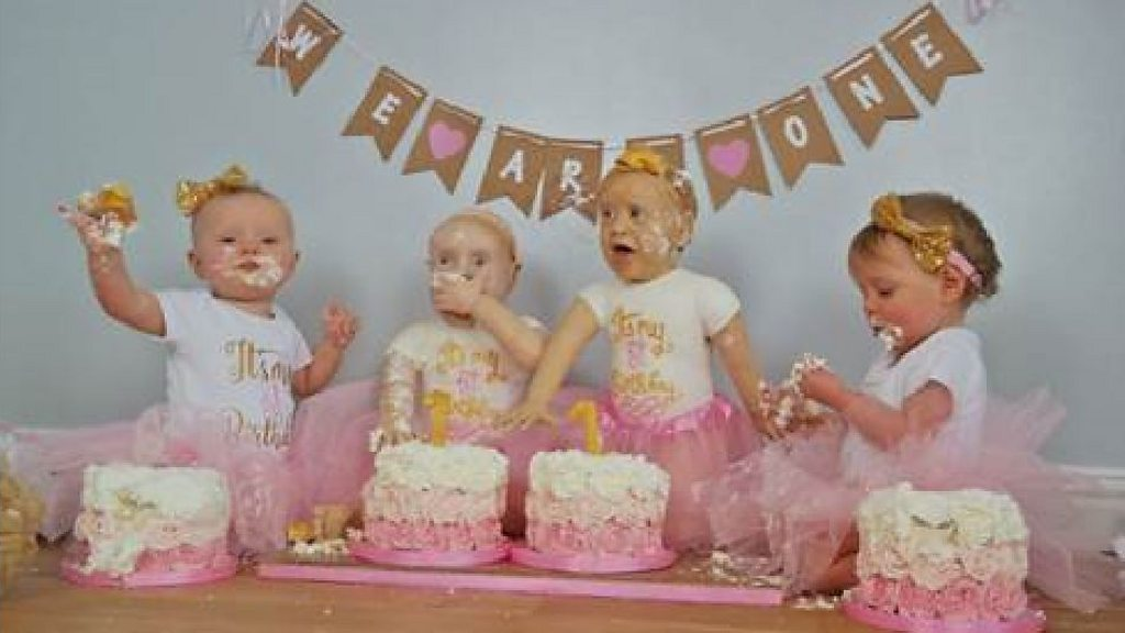 Real Or Cake Mum Creates Life Size Creations Of Twins Bbc News