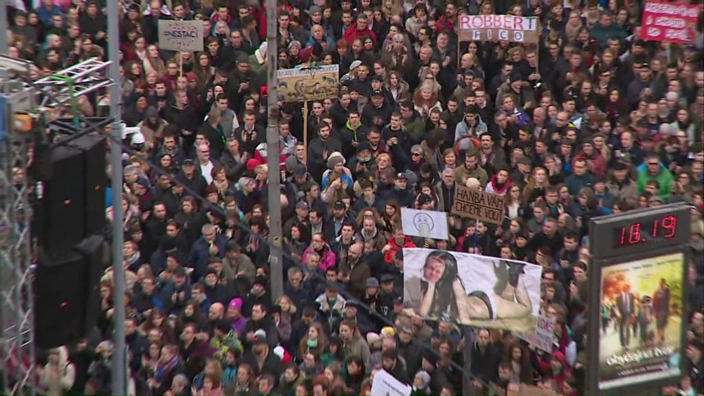 Slovakia-choice of: double murder followed voters