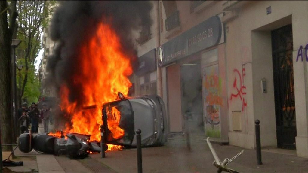 May Day Riots 109 Remain In Custody In France Bbc News