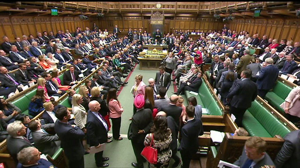 SNP MPs walk out of PMQs in protest