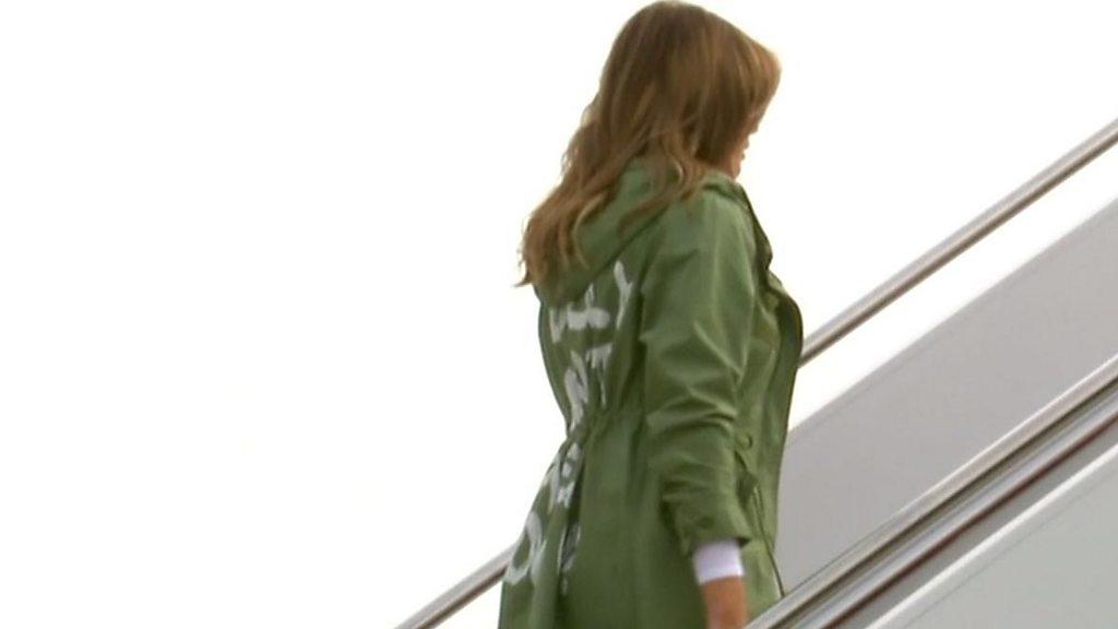 Melania wears 'I really don't care' coat
