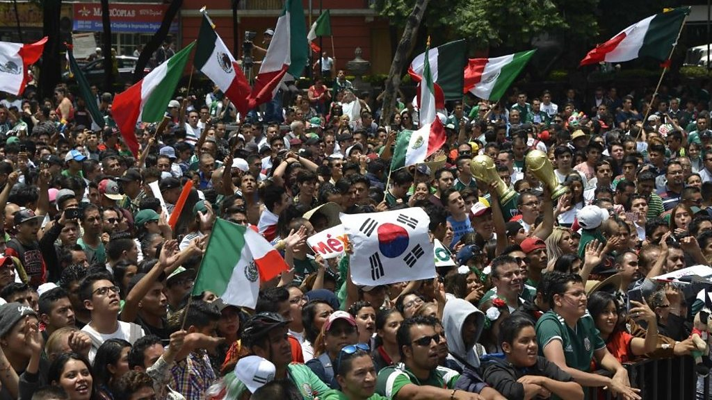 Mexico fans salute Korean 'brothers'