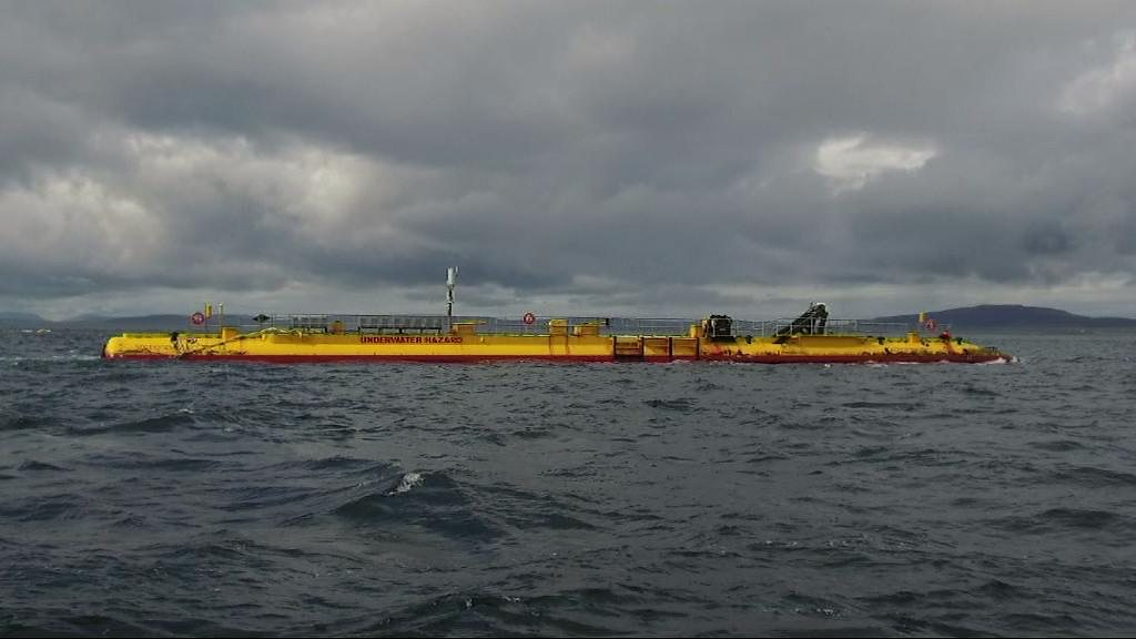 Tidal turbine making 'phenomenal' waves
