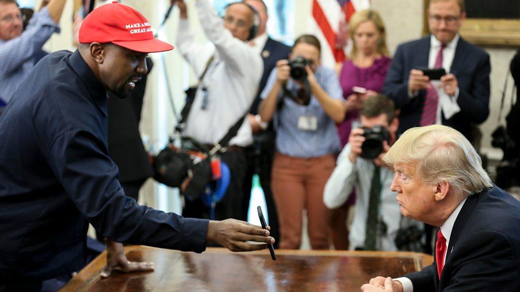 Kanye: 'Trump hat made me feel like Superman'
