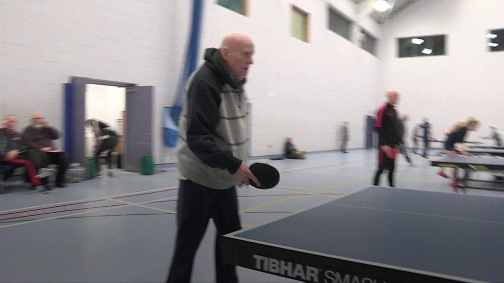 Jimmy O'Hara still playing table tennis at 90