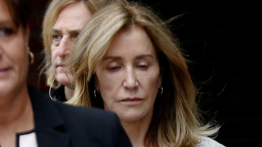 Felicity Huffman Pleads Guilty In College Admissions Scandal Bbc