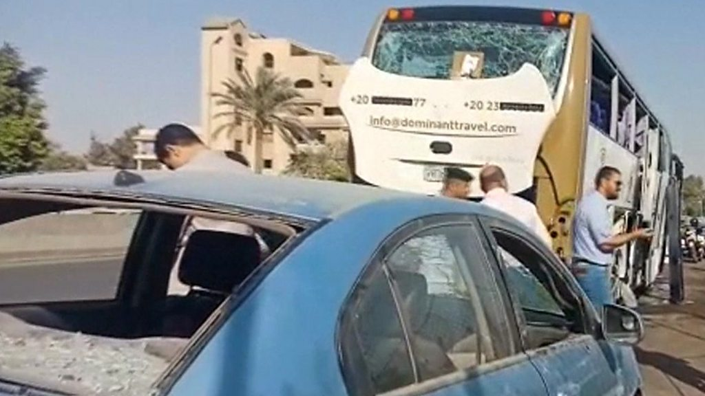 Image result for Egypt Explosion : Tourists On Bus Injured Near Giza Pyramids