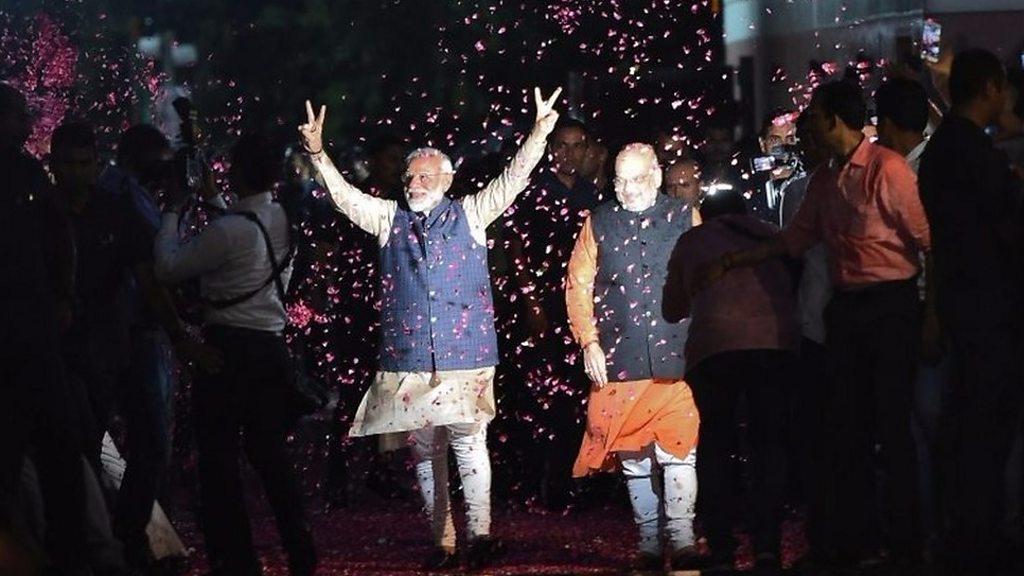 Modi supporters celebrate election win