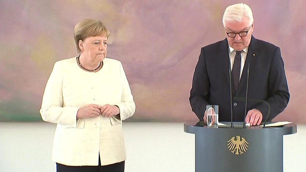 Germany's Merkel seen shaking again in Berlin