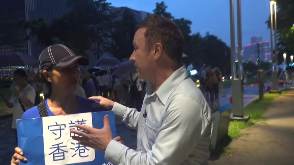 'Fake news': BBC correspondent heckled in Hong Kong