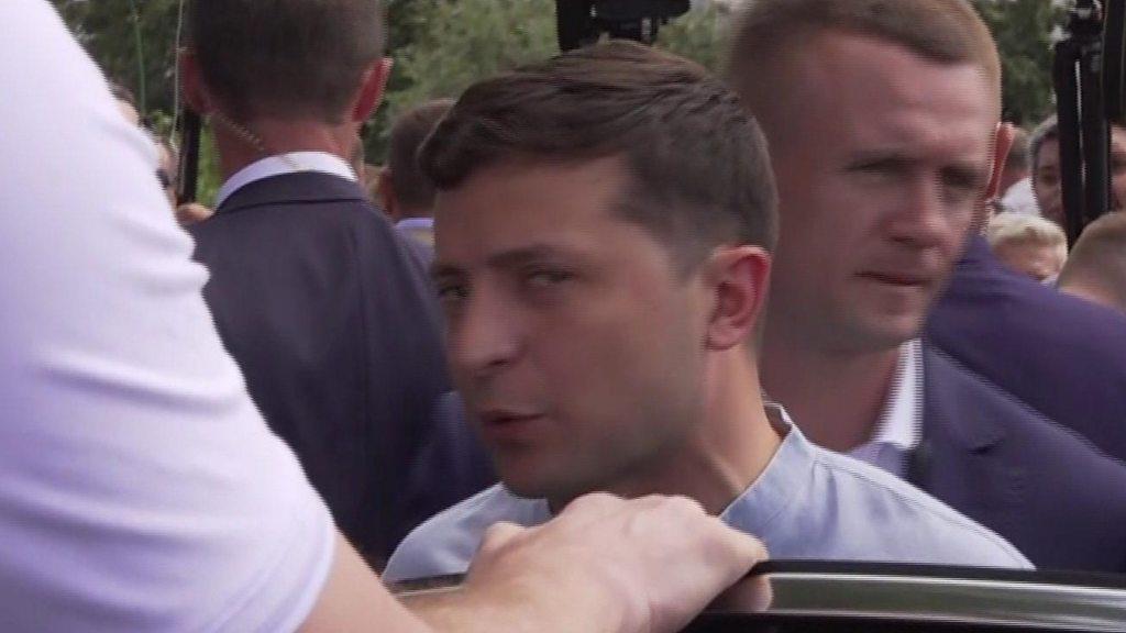 Ukraine election: President Zelensky's party triumphs - exit polls