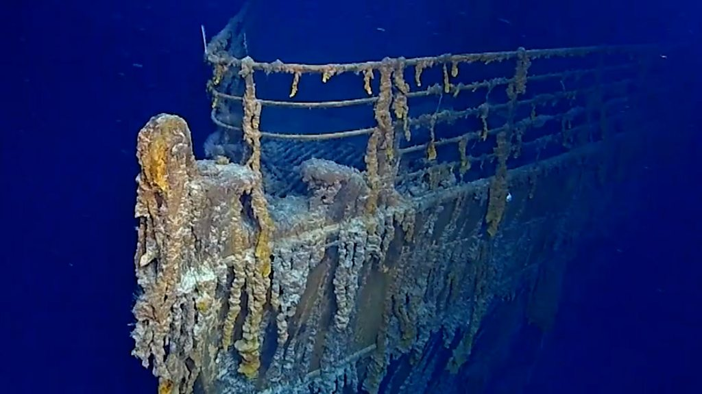 Titanic Sub Dive Reveals Parts Are Being Lost To Sea Bbc News