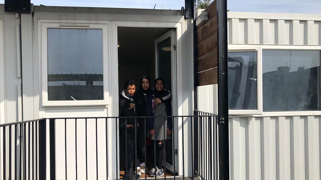 Shipping containers used to house homeless children