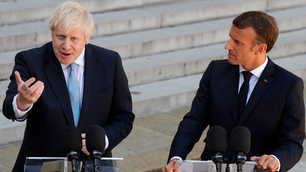 Johnson to meet Macron as French president downplays backstop hopes