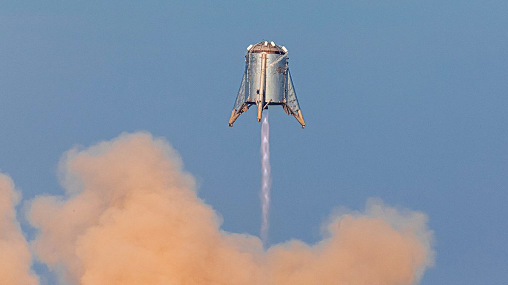 'Starhopper': SpaceX engine testbed makes minute-long jump