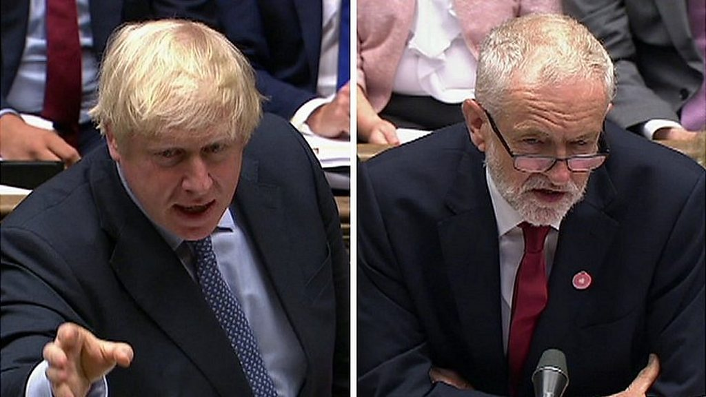 Boris Johnson challenges Jeremy Corbyn, to return to the October election