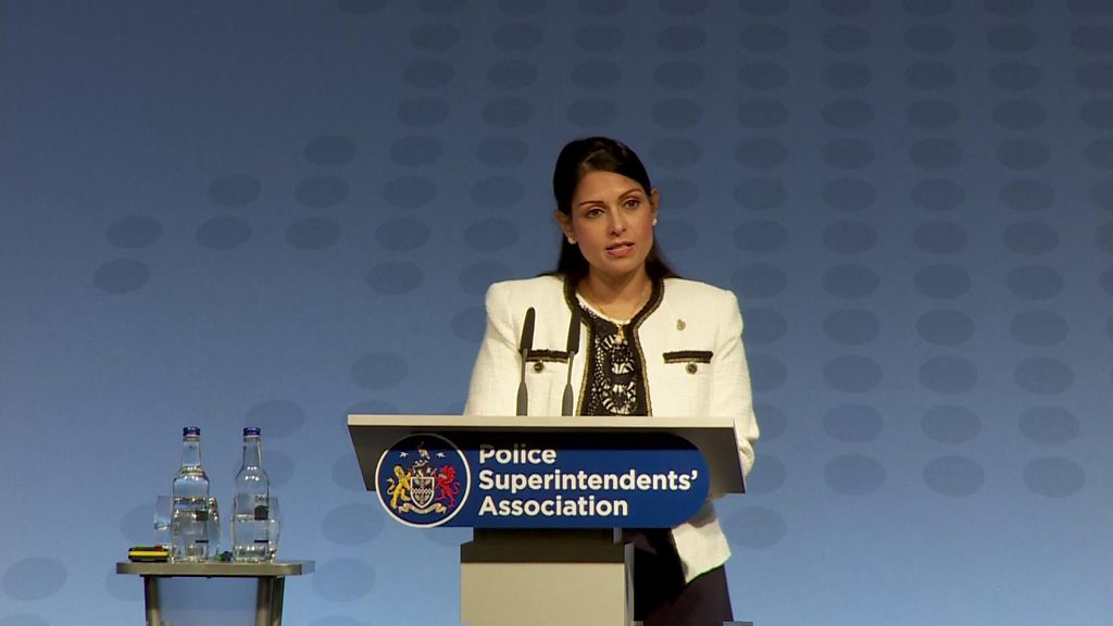 Priti Patel  ashamed  by lack of support for police officers