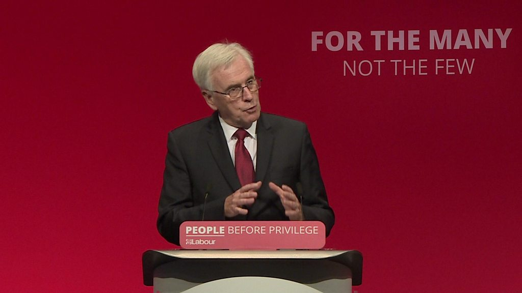 Labour Party conference: McDonnell promises 32-hour working week - BBC News
