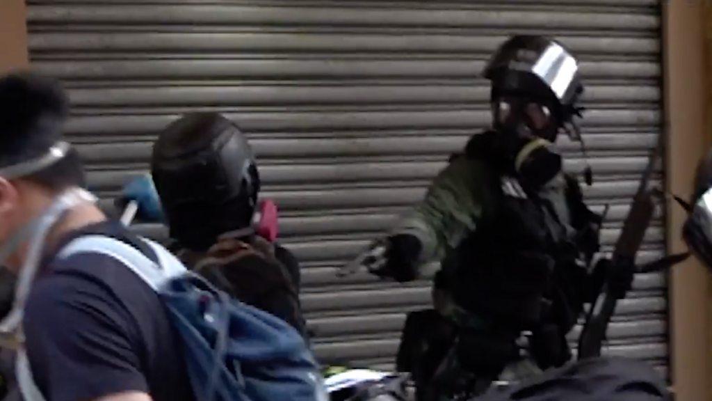 Activist shot amid Hong Kong protests