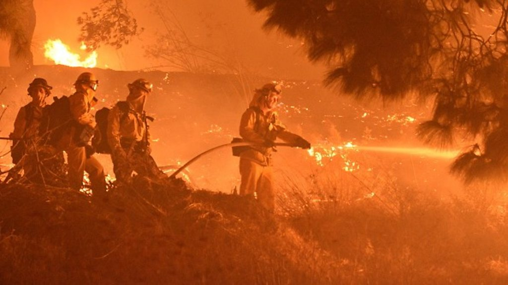 California has huge power outages, such as forest fires rage