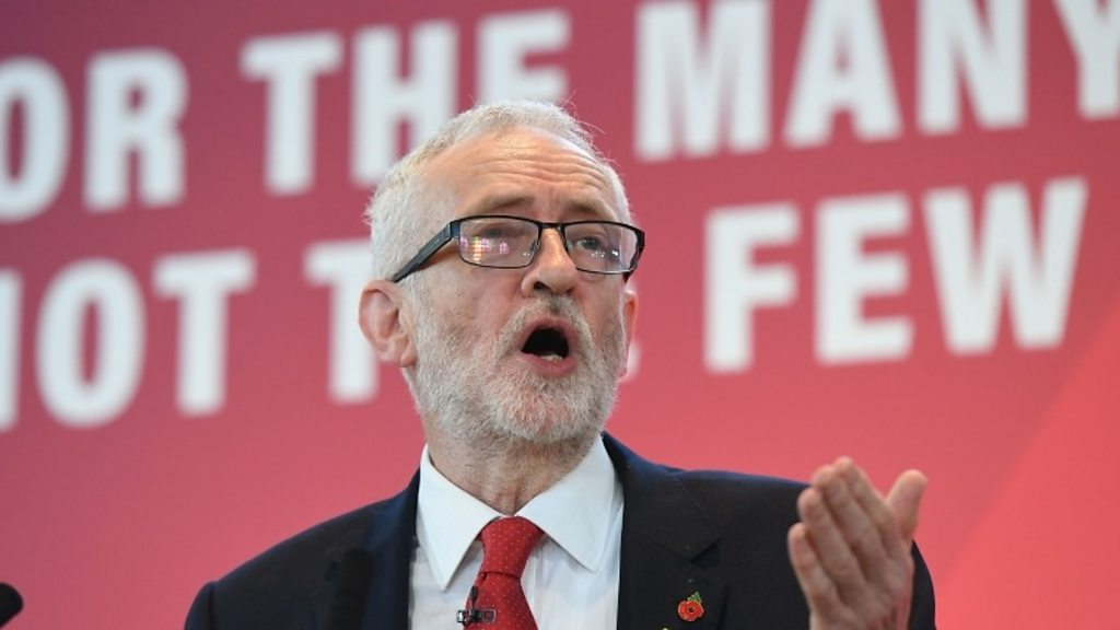 Jeremy Corbyn in election pitch against  corrupt system