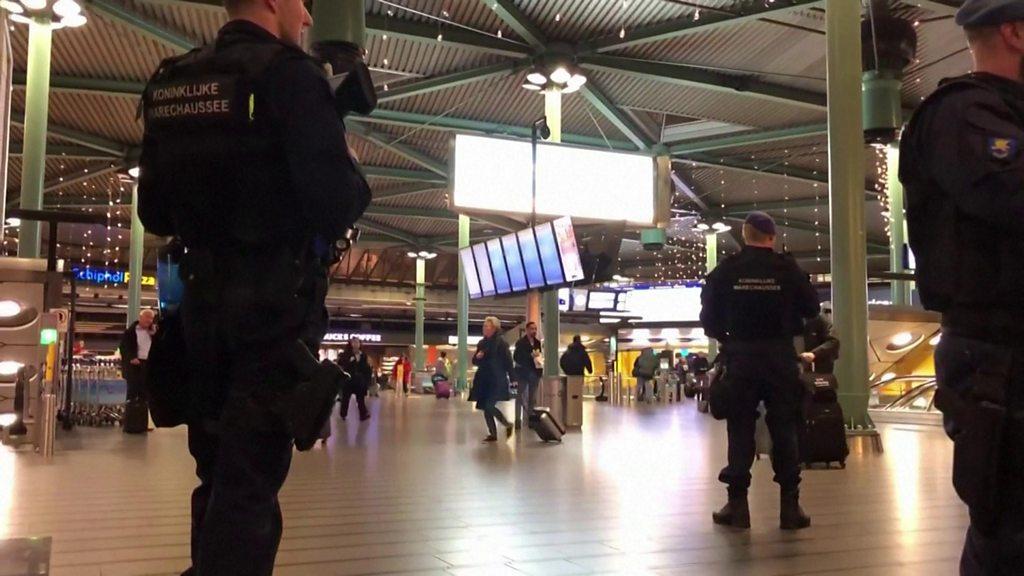 Pilot sparks hijack alert at Amsterdam airport