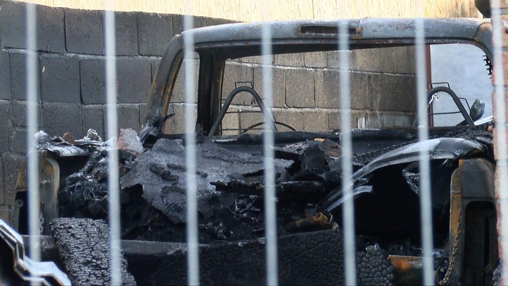 Family home in Newport gutted in 'firework' blaze