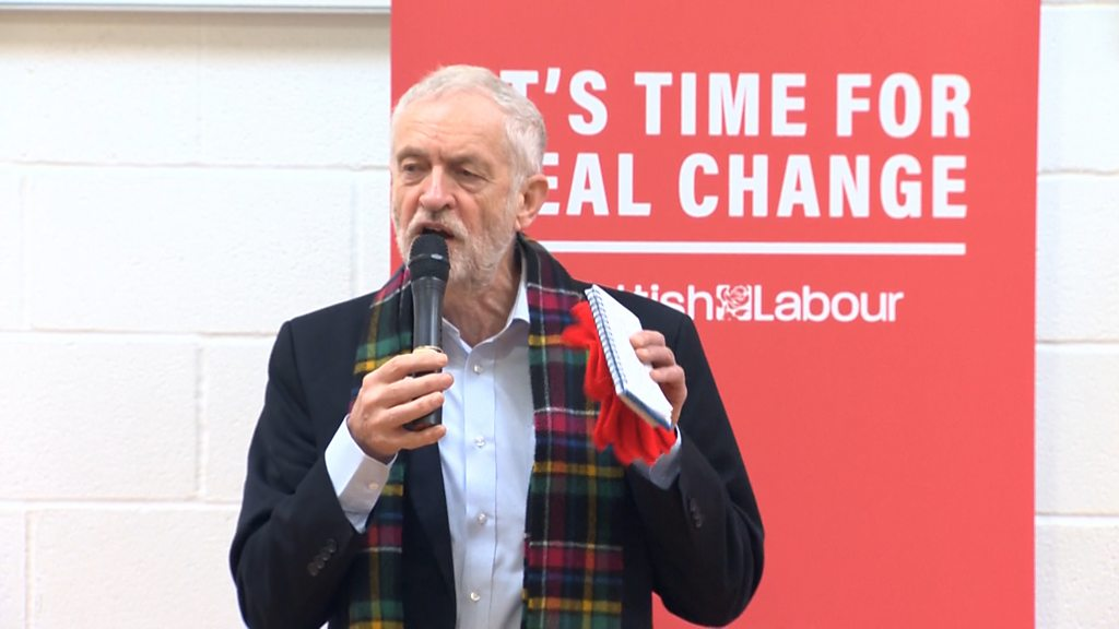 General election 2019: Corbyn rows back on indyref2 comments