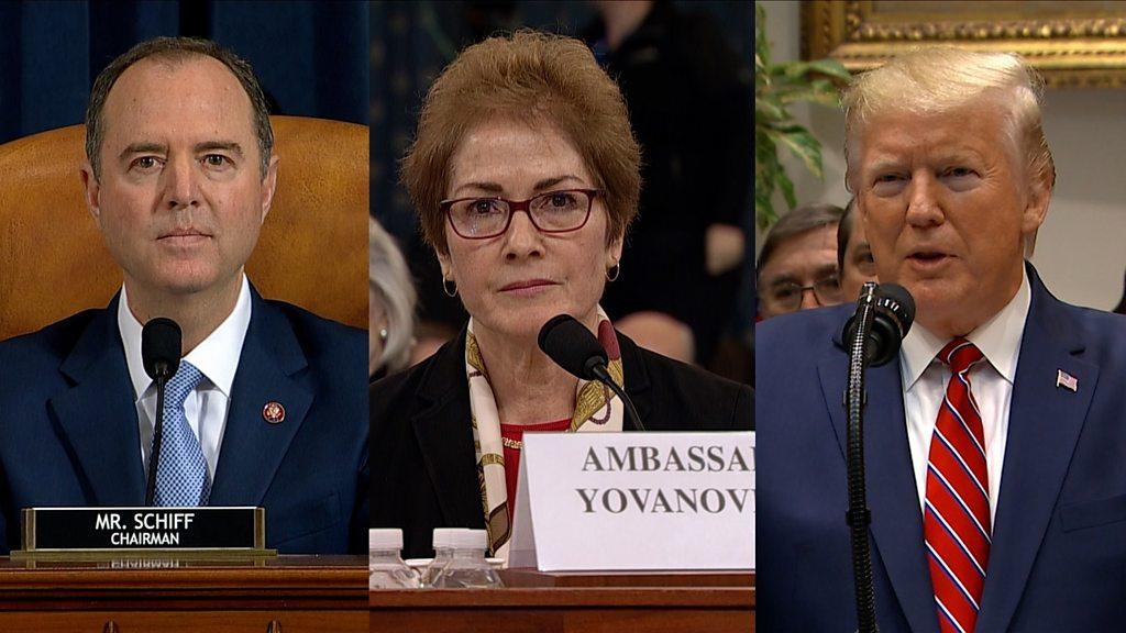 How a Trump tweet shook impeachment hearing - BBC News