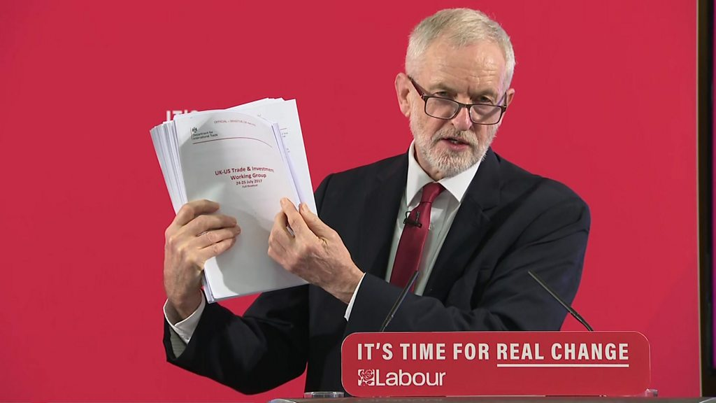 Proof NHS at risk under US trade deal  - Labour