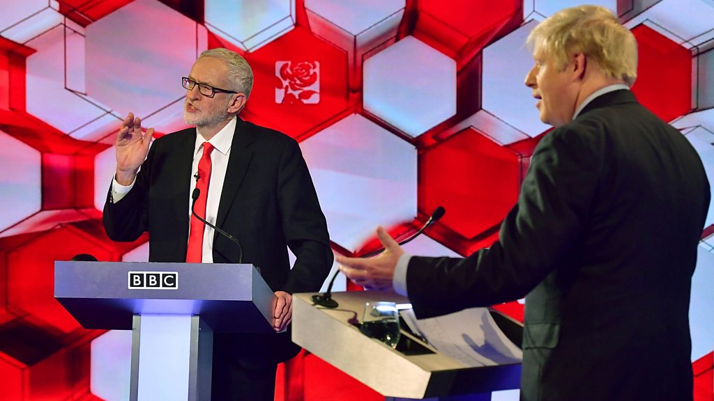 General election 2019: Boris Johnson and Jeremy Corbyn in TV debate