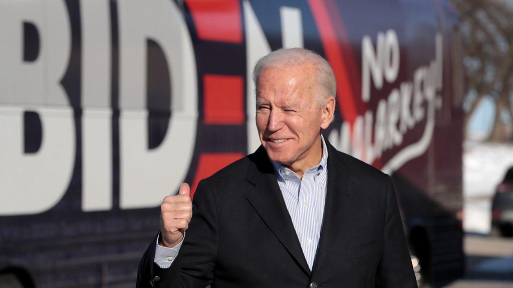 Joe Biden: Democratic presidential frontrunner denies one-term pledge
