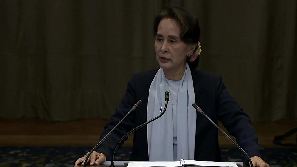 Aung San Suu Kyi cuts a haunted figure at UN genocide court