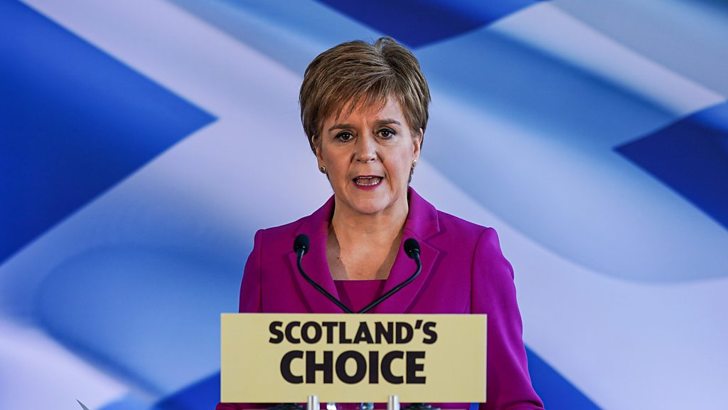 Scotland election results 2019: Sturgeon says PM has  no right  to block Indyref2