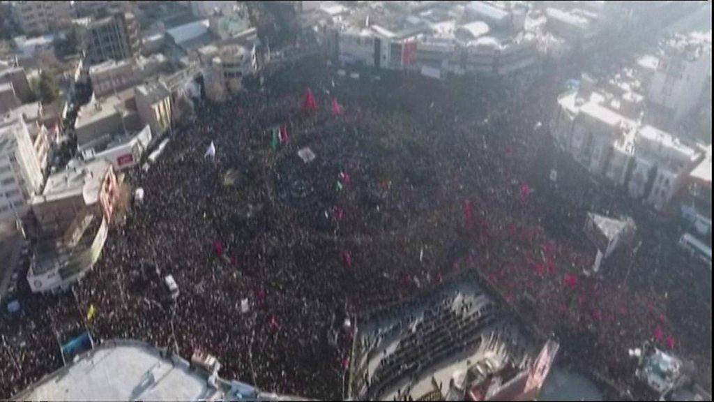 Soleimani: Iranians flock to hometown for commander's burial